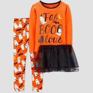 Carters fab boo lous Halloween orange pajama tutu
